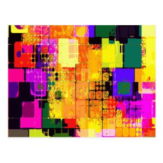 Modelos geométricos del arte abstracto del postal
