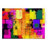 Modelos geométricos del arte abstracto del tarjeta pequeña