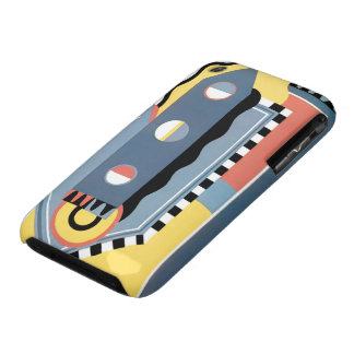 Modelos geométricos del jazz de Pochoir del art iPhone 3 Case-Mate Coberturas