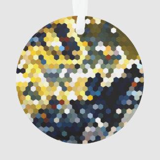 Modelos geométricos hexágonos amarillos y azules