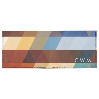 Modelos geométricos triángulos azules y billeteras tyvek®