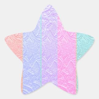 Modelos grabados de seda multicolores de la mirada calcomania forma de estrella personalizadas