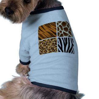 Modelos inconsútiles del estampado de animales camiseta de perrito