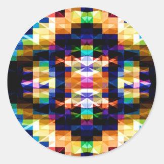 Modelos inspirados - diamantes V2 del arco iris Etiqueta Redonda