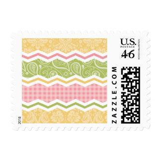 Modelos lindos amarillos, rosados, y verdes del pa sellos