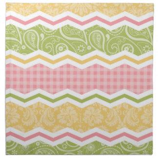Modelos lindos amarillos, rosados, y verdes del pa servilletas