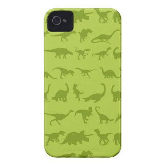 Modelos lindos de los dinosaurios verdes para los iPhone 4 carcasas