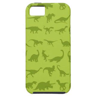 Modelos lindos de los dinosaurios verdes para los iPhone 5 fundas