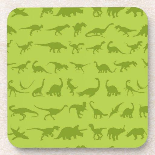 Modelos lindos de los dinosaurios verdes para los  posavaso