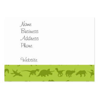 Modelos lindos de los dinosaurios verdes para los plantillas de tarjeta de negocio