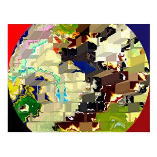Modelos mágicos del ladrillo de círculo tarjeta postal