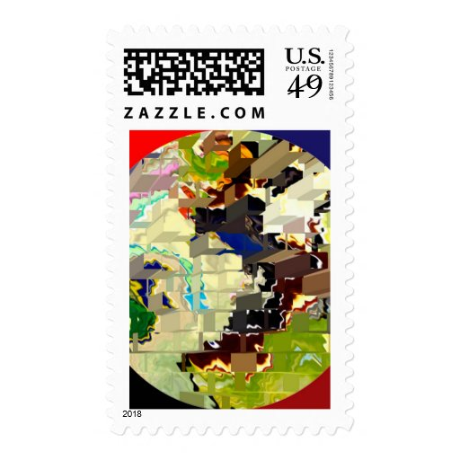 Modelos mágicos del ladrillo de círculo timbres postales