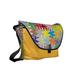 Modelos multicolores del arte de papel del diamant bolsa messenger