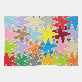 Modelos multicolores del arte de papel del diamant toallas de cocina