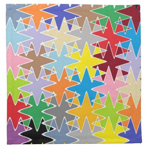 Modelos multicolores del arte de papel del diamant servilleta imprimida