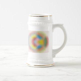Modelos multicolores del arte de papel del diamant tazas de café