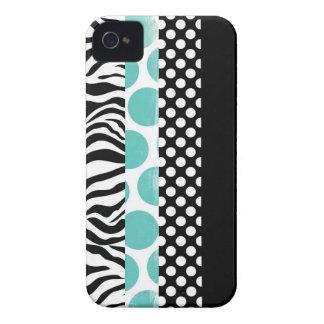 Modelos negros y azules enrrollados Case-Mate iPhone 4 cárcasa