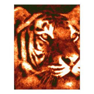 Modelos perdidos del tigre plantillas de membrete