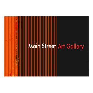 Modelos rayados de la galería de arte abstracto tarjetas de visita grandes