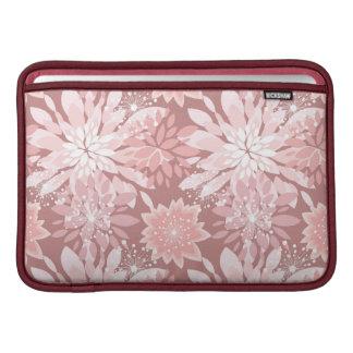Modelos rosados de la flora de la primavera fundas MacBook