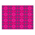 modelos rosados del círculo tarjeta postal