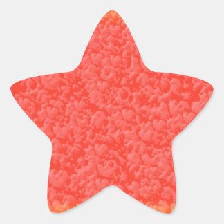 Modelos sensuales de los pétalos color de rosa pegatina en forma de estrella