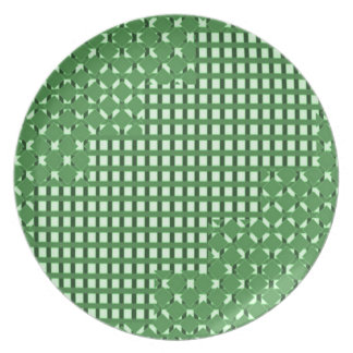 Modelos sq verdes del rect del diamante n. TIENDA  Plato De Cena