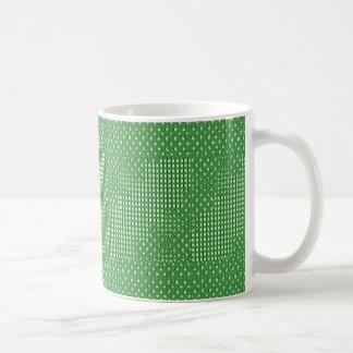 Modelos sq verdes del rect del diamante n. TIENDA Taza Clásica