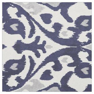 Modelos tribales de azules añiles del ikat telas