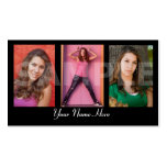 Models and Actors Headshot Business Card
