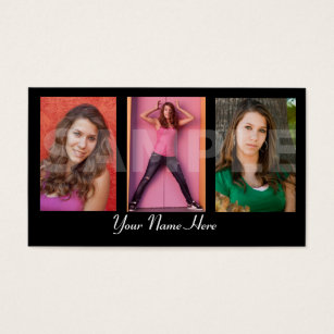 Actor business cards templates zazzle models and actors headshot business card colourmoves Choice Image