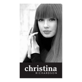 Models and Actors Modern Headshot II Double-Sided Standard Business Cards (Pack Of 100)