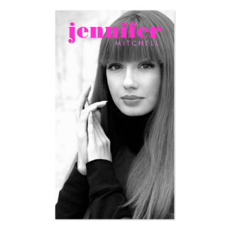 Models and Actors Modern Headshot IV Double-Sided Standard Business Cards (Pack Of 100)