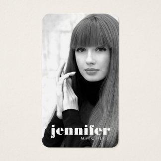 Models and Actors Modern Headshot V Business Card