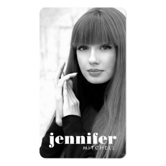 Models and Actors Modern Headshot V Double-Sided Standard Business Cards (Pack Of 100)