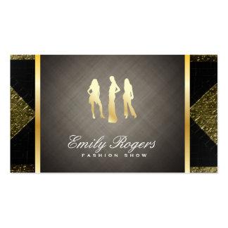 Models / Black & Gold Tiles with Gold Trim Business Card
