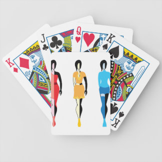 Models Fashion Bicycle Playing Cards