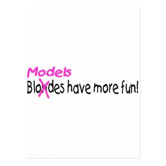 Models Have More Fun Postcards