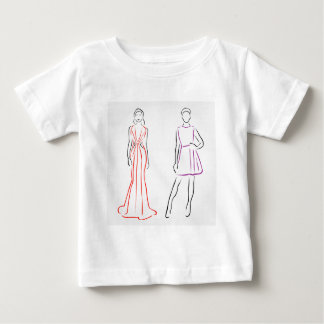 Models in designer outfits baby T-Shirt