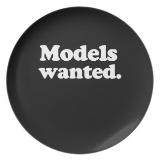 MODELS WANTED PARTY PLATES