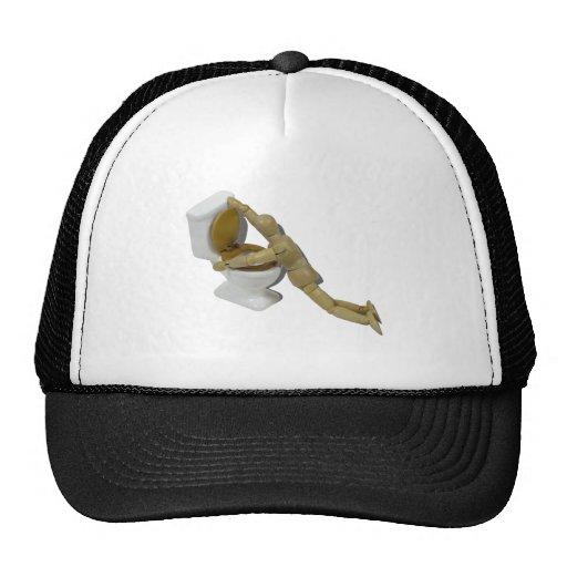 ModelSickIntoToilet110511 Trucker Hat