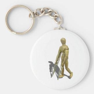 ModelWalkingWithCrutches110511 Basic Round Button Keychain