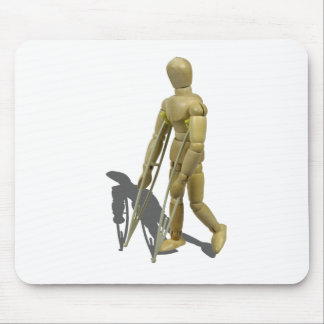ModelWalkingWithCrutches110511 Mouse Pad