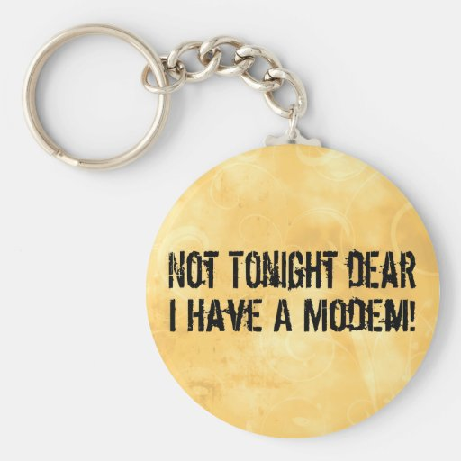 Modem Headache Key Chains