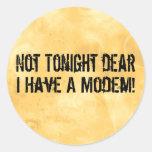 Modem Headache Round Sticker