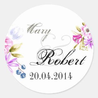 Moden Sketchy Flower Bouquet Classic Round Sticker