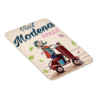 Modena Italy Scooter travel poster Magnet