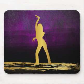 Moder Dance Bollywood Dancer Modern Glam Purple Mouse Pad