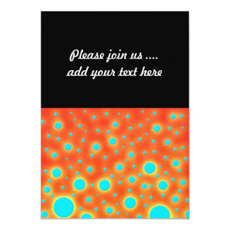 Moder Design Turquoise Dots on Bright Orange Card