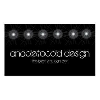 moder spotlights tech circles bussiness card business card template
